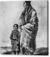 Native American Squaw And Child Canvas Print