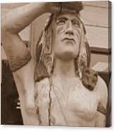 Native American Statue In Toppenish Canvas Print