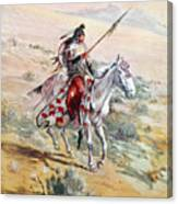 Native American Warrior Canvas Print