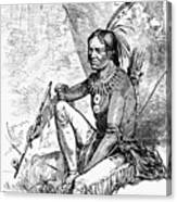 Native American With Pipe Canvas Print