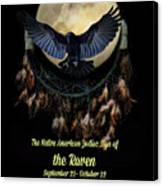Native American Zodiac Sign Of The Raven Canvas Print