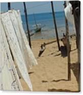 Native Beach Scene Canvas Print