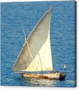 Native Sail Boat Canvas Print