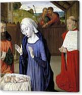 Nativity - Master Of Moulins Canvas Print