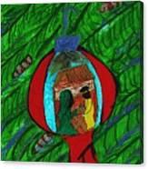 Nativity In A Bulb Canvas Print