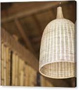 Natural Bamboo Interior Design Lampshade Detail Canvas Print