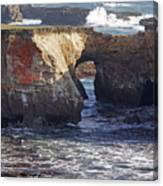 Natural Bridge At Point Arena Canvas Print
