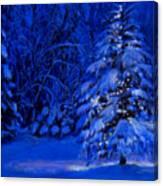 Natural Christmas Tree Canvas Print