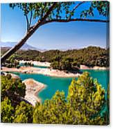 Natural Framing. El Chorro. Spain Canvas Print