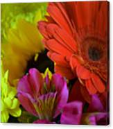 Nature Colorful Bouquet Canvas Print