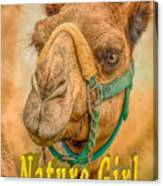 Nature Girl Camel Canvas Print