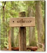 Nature Loop Sign Canvas Print