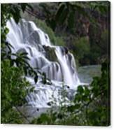 Nature's Framed Waterfall Canvas Print