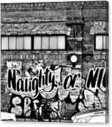 Naughty Or Nice In B W Canvas Print