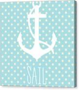 Nautical Anchor Canvas Print