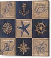 Nautical Burlap Canvas Print