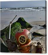 Nautical Collection Found On The Beach Canvas Print