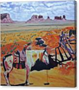 Navajo Ponies Canvas Print