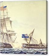 Naval Engagement Between The Uss Frigate Constitution And Hms Frigate Java Canvas Print