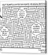 Navigate The Trump Legal Defense Canvas Print