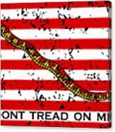 Navy Jack Flag - Don't Tread On Me Canvas Print