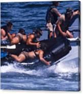 Navy Seals Practice High Speed Boat Canvas Print