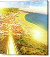 Nazare Skyline Sunset Canvas Print