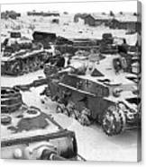 Nazi Tanks On The Outskirts Of Stalingrad 1942 Canvas Print