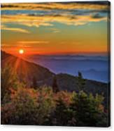 Nc Mountain Sunrise Blue Ridge Mountains Canvas Print
