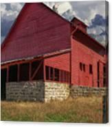 Nc Red Barn Canvas Print