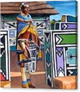 Ndebele Color Canvas Print