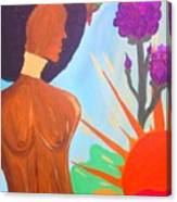 Nduku The Nigerian Beauty And Hummingbird Canvas Print