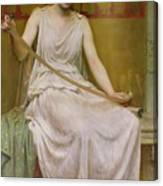 Neaera Reading A Letter From Catullus Canvas Print
