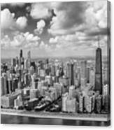 Near North Side And Gold Coast Black And White Canvas Print
