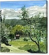 Near San Giovanalle Tuscany Canvas Print