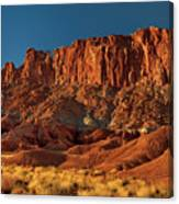 Near The Fluted Wall In Capitol Reef National Park Utah Canvas Print