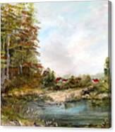 Near The Pond Canvas Print