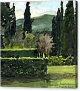 Near Villa Mandri Gardens Canvas Print