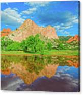 Nearly 2 Million People Rollick In This World-famous City Park Every Year.  Canvas Print