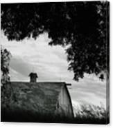 Nebraska - Barn - Black And White Canvas Print