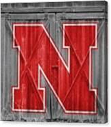 Nebraska Cornhuskers Barn Doors Canvas Print
