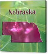 Nebraska Map Canvas Print