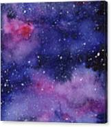 Nebula Watercolor Galaxy Canvas Print