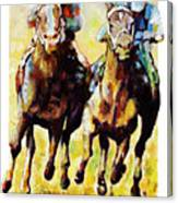 Neck and Neck Canvas Print