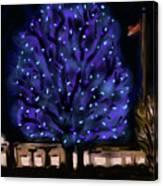 Needham's Blue Tree Canvas Print