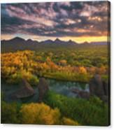 Needle Rock Sunrise Canvas Print
