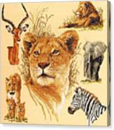 Needlework - African Animals Canvas Print