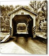 Neff's Mill Covered Bridge - Lancaster County Pa. Canvas Print