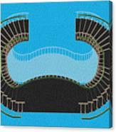Negative Stair 45 Blue Background Architect Architecture Canvas Print