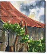 Neighbor Don's Old Barn Canvas Print